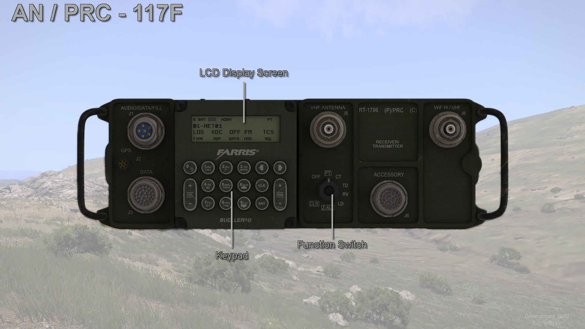 AN/PRC-117F Interface